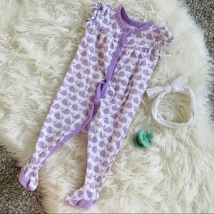 3-6M Purple Whale Footies!
